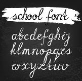 Vector alphabet. Hand drawn letters. S Royalty Free Stock Photos