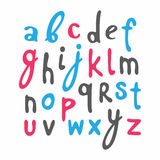 Vector alphabet. Hand drawn letters. Vector set with hand written ABC letters. Calligraphy collection Stock Photo