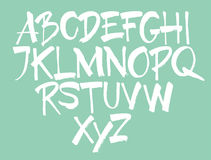 Vector alphabet. Hand drawn letters. Royalty Free Stock Photography
