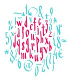 Vector alphabet. Hand drawn letters Stock Images
