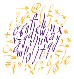 Vector alphabet. Hand drawn letters Royalty Free Stock Images