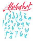 Vector alphabet. Hand drawn letters Stock Photography