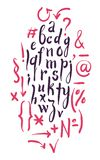 Vector alphabet. Hand drawn letters Stock Photo