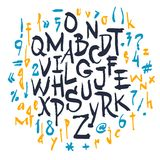 Vector alphabet. Hand drawn letters Royalty Free Stock Photo
