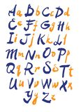 Vector alphabet. Hand drawn letters Royalty Free Stock Photos