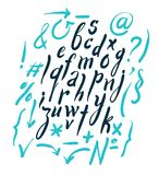 Vector alphabet. Hand drawn letters Stock Image