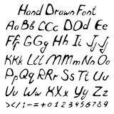 Vector alphabet. Hand drawn letters. Letters of the alphabet written with a brush Stock Photography