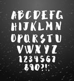 Vector alphabet. Hand drawn letters. Royalty Free Stock Images