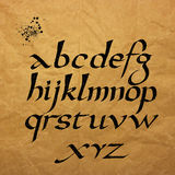 Vector alphabet. Hand drawn letters written with Royalty Free Stock Photo