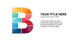 Vector alphabet infographic, presentation slide template. Business concept with letter B and place for your text. 16x9 Stock Photos