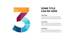 Vector alphabet infographic. Presentation slide template. Business font concept with number 3 and place for your text Stock Images
