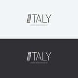 Vector alphabet italy design concept with flat sign icon. Royalty Free Stock Photos