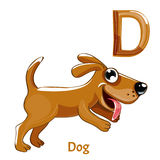 Vector alphabet letter D. Dog stock illustration