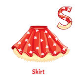 Vector alphabet letter S. Skirt Stock Image