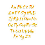 Vector alphabet. Letters of the alphabet written with a brush. Stock Photo