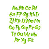 Vector alphabet. Letters of the alphabet written with a brush. Stock Images