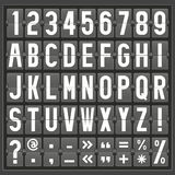 Vector alphabet of mechanical panel Royalty Free Stock Photos
