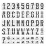 Vector alphabet of mechanical panel Stock Images