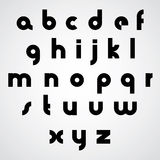 Vector alphabet, modern style simplistic font. Royalty Free Stock Photography