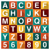 Vector Alphabet Number Dog Cat paw Set Royalty Free Stock Images