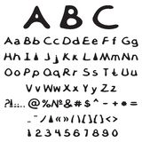 Vector alphabet and numbers Stock Photos