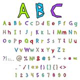Vector alphabet and numbers Stock Images