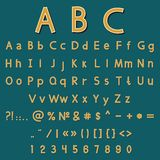 Vector alphabet and numbers Stock Photo