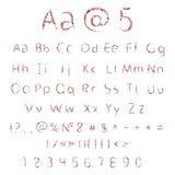 Vector alphabet and numbers Royalty Free Stock Photos