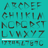 Vector Alphabet and numbers Set Stock Photo