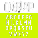 Vector Alphabet with Ovelapping Letters, Modern Paper Cut Font Style. Vector Alphabet with Ovelapping Letters, Modern Paper Cut Font Style royalty free illustration