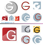 Vector Alphabet Project G Stock Images