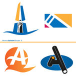 Vector Alphabet Project a 2. Vector variant Alphabet Project a 2 Royalty Free Stock Images