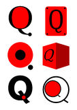 Vector alphabet Q logos and icons Stock Photos