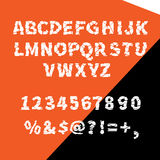 Vector alphabet ragged flat for creative use Royalty Free Stock Photography