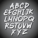 Vector Alphabet Set art grey shadow font Stock Photo