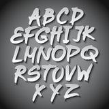 Vector Alphabet Set art grey shadow font Stock Photo