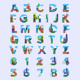 Vector alphabet set Stock Images