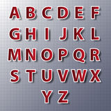 Vector alphabet set, paper, stickers, labels, tags.vector/eps10. Stock Image