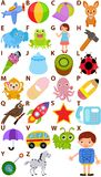 Vector Alphabet Set : A to Z. Back to school: Vector Alphabet A to Z - Dictionary for Kids Royalty Free Stock Photography