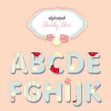 Vector alphabet. shabby chic Royalty Free Stock Photos