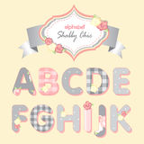 Vector alphabet. shabby chic Royalty Free Stock Image