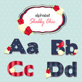 Vector alphabet. shabby chic. seamless swatch Stock Images