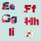 Vector alphabet. shabby chic. seamless swatch Royalty Free Stock Photo