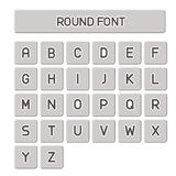 Vector alphabet, Simple Round. Font, simple type Stock Image