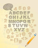 Vector alphabet. Texture paint. Royalty Free Stock Photography