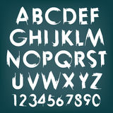 Vector alphabet typography set with numbers Stock Images