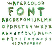 Vector alphabet with watercolor font Stock Photos