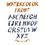 Vector alphabet for your design. Hand drawn letters. Royalty Free Stock Photography