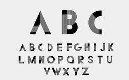 Vector alphabetic fonts. Black alphabetic fonts with black lines. Vector eps10 illustrator royalty free illustration