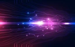 Vector a alta velocidade futurista abstrata, conceito colorido alto do fundo da tecnologia digital da ilustração ilustração do vetor